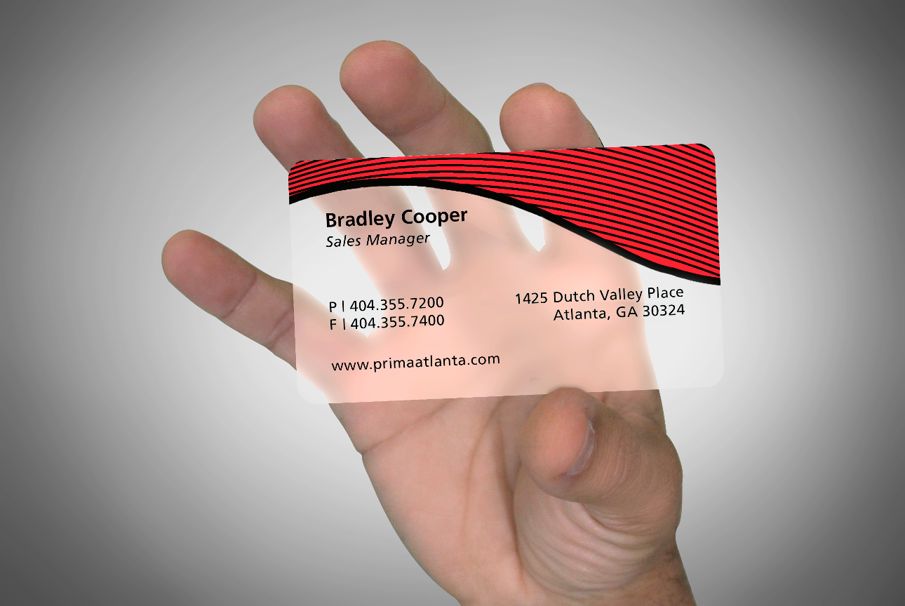 Translucent Frosted Plastic Business Card - Slim Image