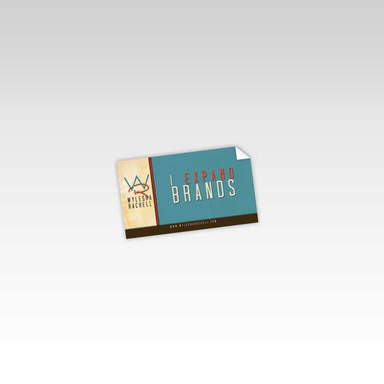1000 Business Card Size Sticker