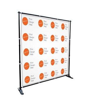 8 X 8 STEP AND REPEAT BANNER W/ GROMMETS