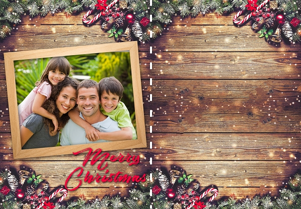 Same Day Holiday Greeting Cards (with Envelopes) - Choose from a variety of templates