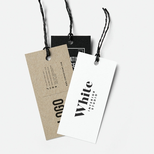 250 NEXT DAY 2x3.5 PREMIUM UNCOATED HANG TAGS
