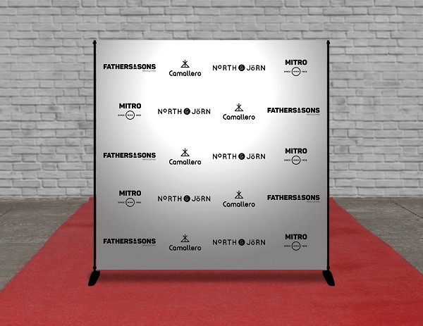 8 X 8 STEP AND REPEAT BANNER (2-4 Business Days)