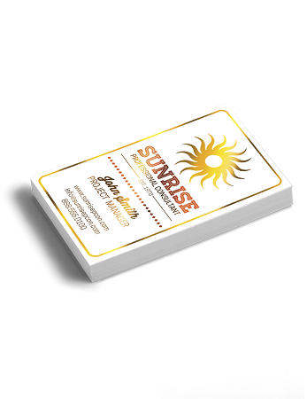 2500 Akuafoil 16PT Business Cards